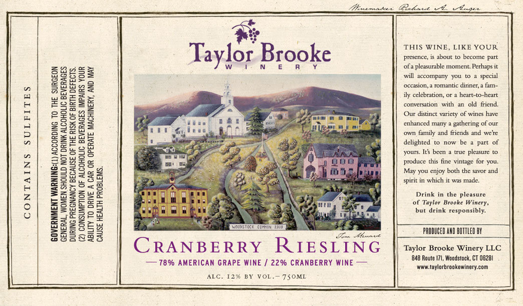 cranberry riesling wine label