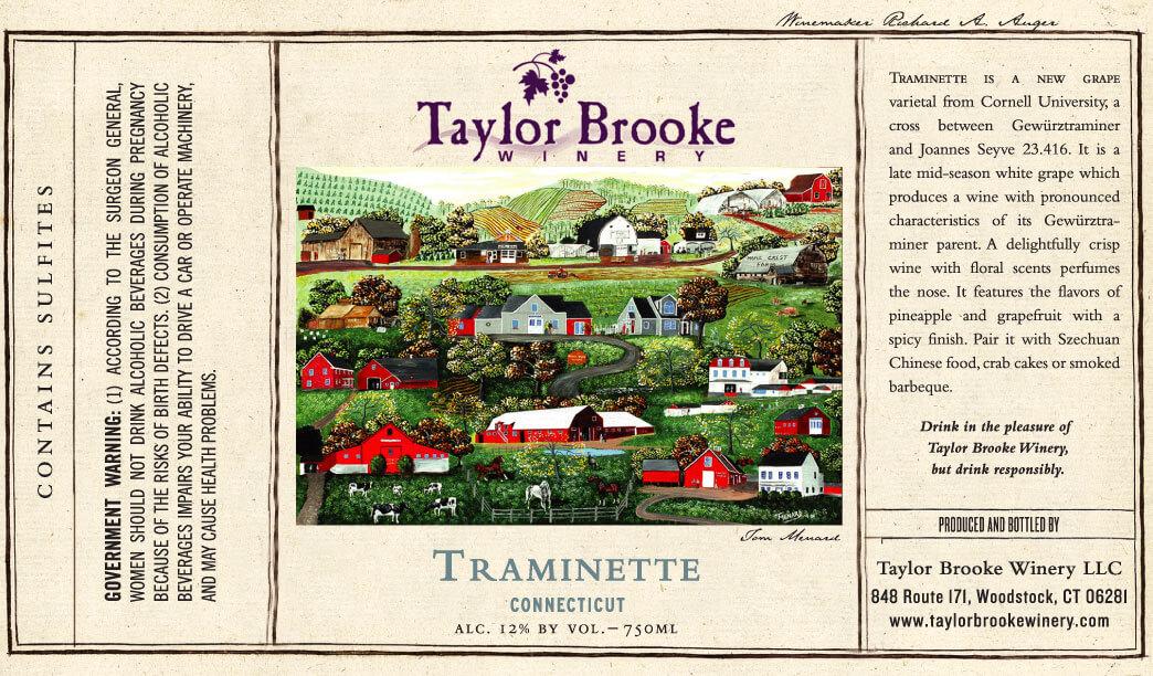 traminette wine label